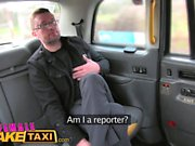 Female Fake Taxi Reporter receives hot sex scoop