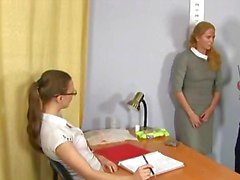 Hardcore job interview for blonde secretary
