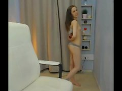 Sexy Beautiful Shy Brunette Teen naked on cam 1st time