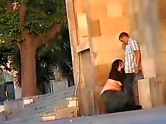 Couple - Foreplay in the street