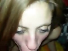 Amateur GF blowjob with huge facial cumshot