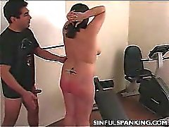 Spanked Chubby Ass