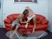 Russian blonde amateur blowjob