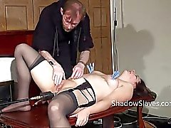 Amateur slave Jannas kinky fetish and bizarre machine fucked