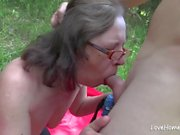 Enjoying a nice picnic with his hot wife.mp4