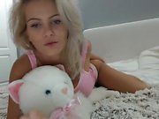 Elena Teen BLONDE Girl masturbate