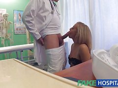 Hot Petite blonde deepthroats a thick dick