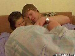 teen loves to be fucked in the early morning