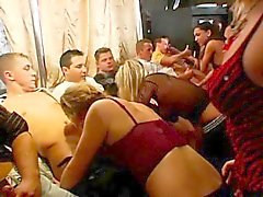 Wild gals are drenched with craving during orgy party
