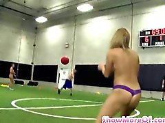 Strip dodgeball game ends up in a hot college orgy