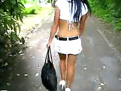miniskirt and heels
