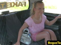 Cocksucking taxi czech fucked on backseat