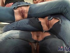 Lesbian group sex session with raunchy sluts