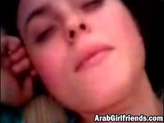 Homemade amateur Arab girlfriend fucking close up