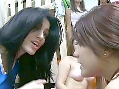 Lesbo sorority teens hazed by giving bj
