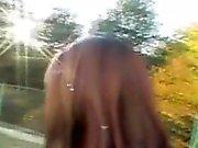 Wild European Brunette Getting Finger Blasted In Public