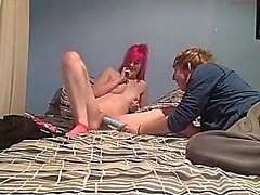 Sweet Emo Teen in Striped Socks get Fucked on Webcam #1