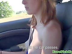 Picked up redhead babes nude car journey