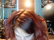 The Most Beautiful Redhead 19yo Teen Masturbating on Webcam