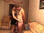 Cheating spouse by trying out strapo disciplined by her spo