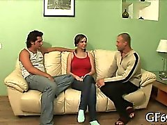 Threesome with hot women