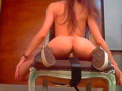 Horny brunette slut ass toying 01