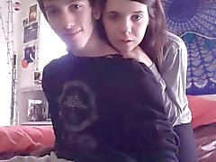 Young couple light up their webcam with oral sex and screwi