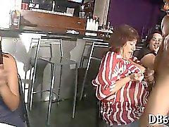 Public hard fuck at the bar