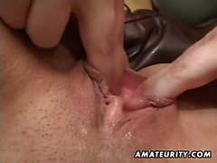 A sensational brunette amateur partner homemade hardcore ac