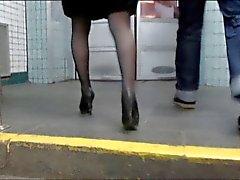 Random stockings upskirts 2