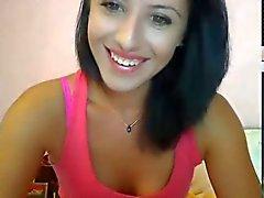 brunette slut smokes and masturbates on webcam