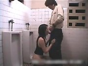 Asian babe gives sensuous blowjob in the shower