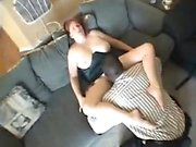 White milf riding and sucking a cock