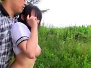 Hot outdoor blowjob pov style