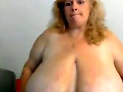 Big Tittied Chubby Granny Masturbation
