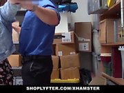 Amateur shoplifter caught in the act and fucked by detective