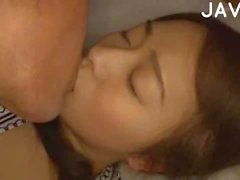 Sleeping Busty Babe Gets Bush Fingered