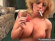 Enormous Boob Smoking oral sex