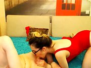 Beautiful brunette Webcam Blowjob is awesome
