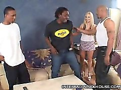 Busty Blonde Alicia Interracial Banging