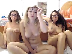 StrapOn Lesbian with big boobs fucks her blonde sexy GF