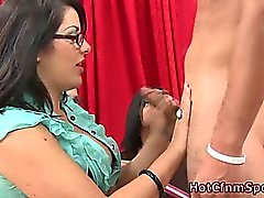 Party babe gets cumshot on her tits