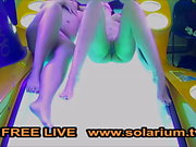 Solarium cam 2 Girls masturbates on the solarium