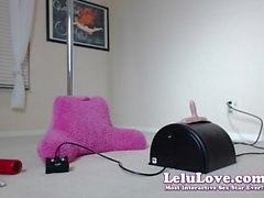 Lelu Love-WEBCAM: BTS Sybian Dildo Riding Orgasms