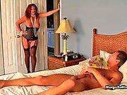 Margo catching her man wanking