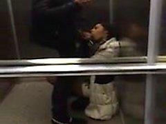 Slut suck dick in lift off