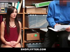 Shoplyfter - Sexy Teen Recorded Fucking Older Officer