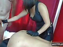 Busty student doggy style anal
