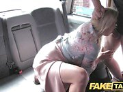 Blonde fucks taxi driver