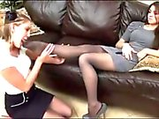 bosses Daughter Gets Her Nylon Feet Worshipped